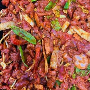 chinese pork fillet stir fry
